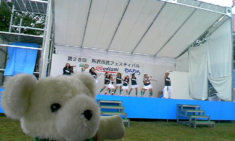 雨中のトークショー!所沢市民フェスティバル(土)