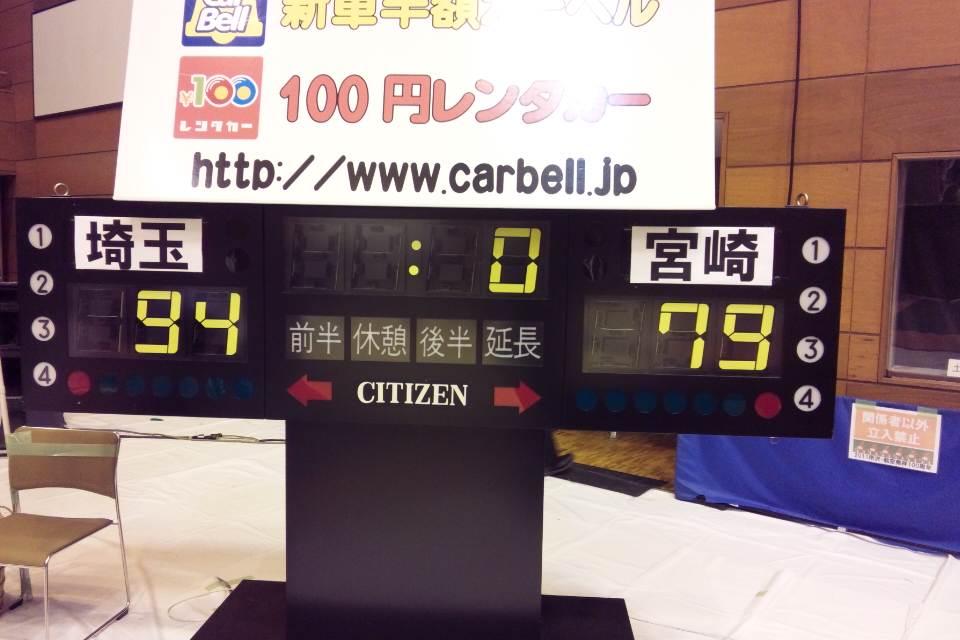 2月19日の結果(vs宮崎@秩父)
