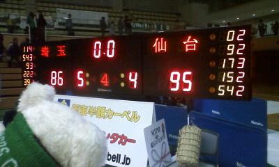 3月6日(日)の結果(vs仙台@春日部)