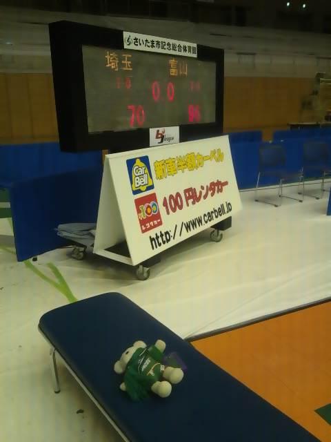11月19日(土)の結果(vs富山・ホームさいたま)