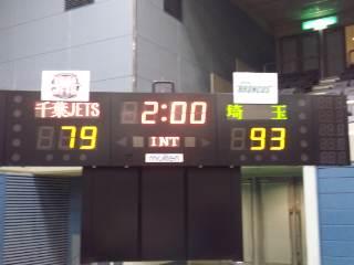 2月3日(金)の結果(vs千葉・アウェイ船橋)2012.2