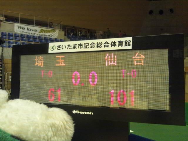 3月31日(土)、4月1日(日)の結果(vs仙台・ホームさいたま)