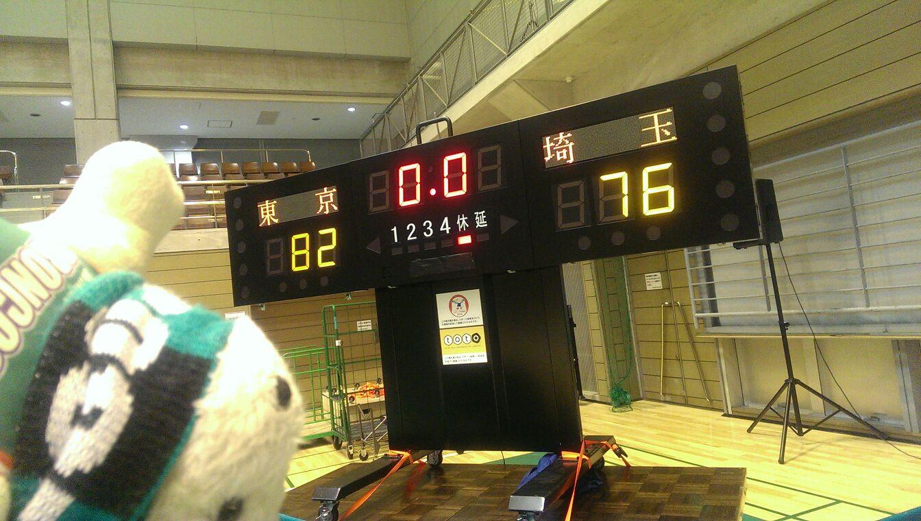 2013年11月13日(水) アウェイ・東京サンレーヴス戦の結果